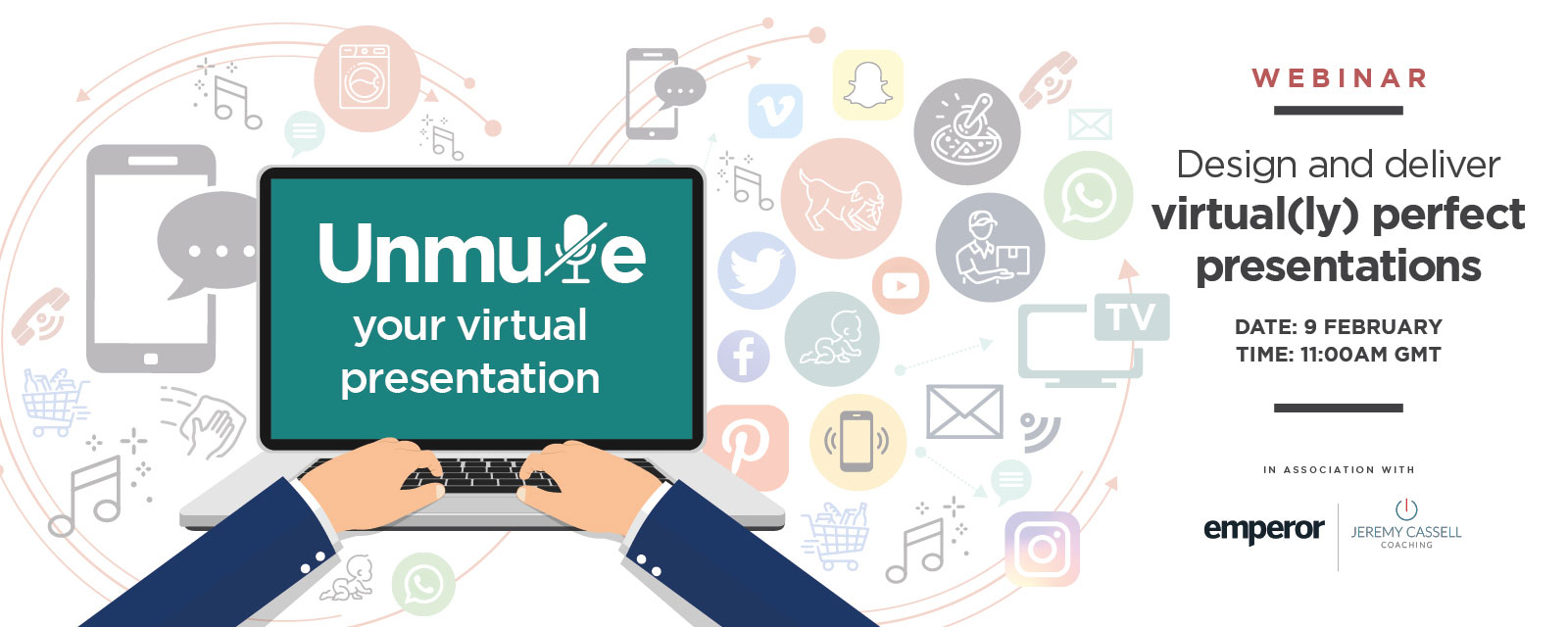 Unmute your virtual presentations