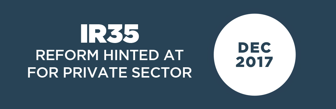 IR35 in private sector hinted