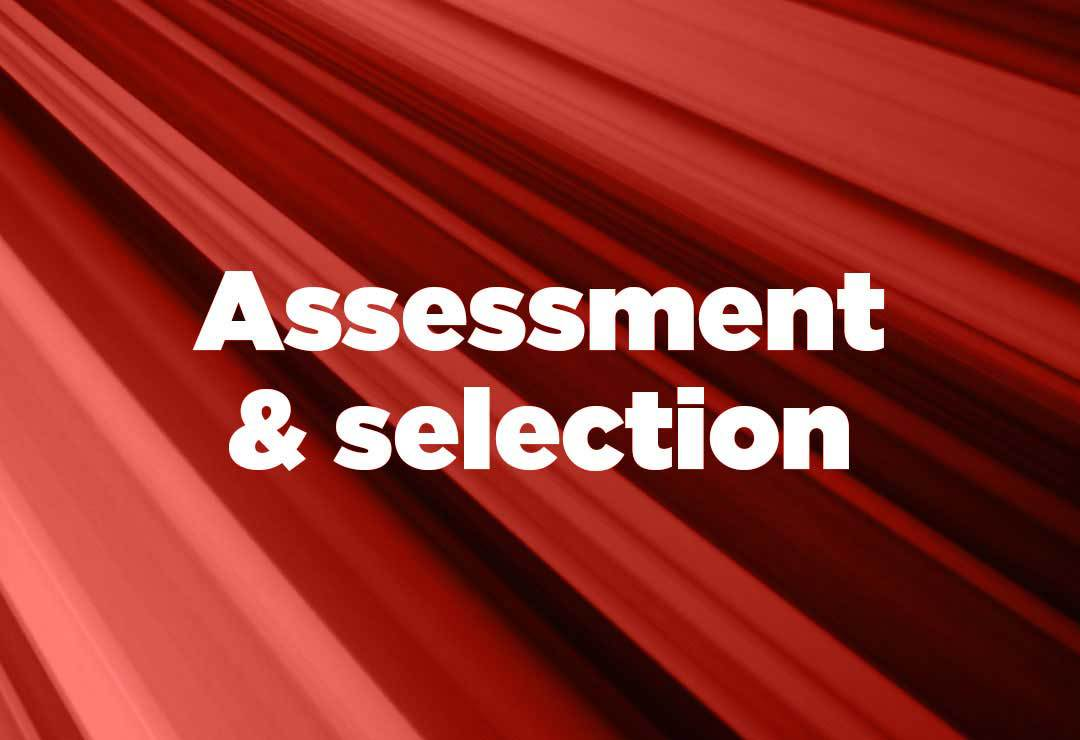 assessment and selection support with an RPO